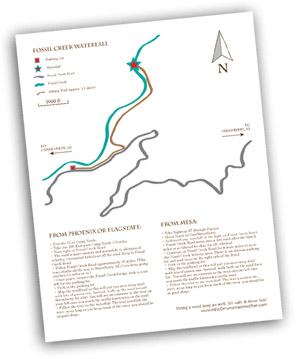 Fossil Creek Waterfall Map