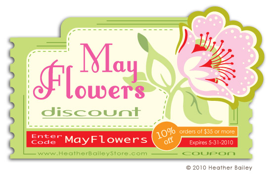 Discount and promo code for heather bailey sewing patterns and fabric