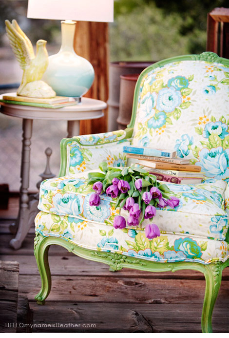 Fun fabric chairs: ideas and inspiration